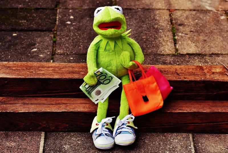 買い物カエル