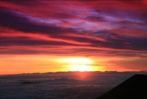 マウケナア夕陽
